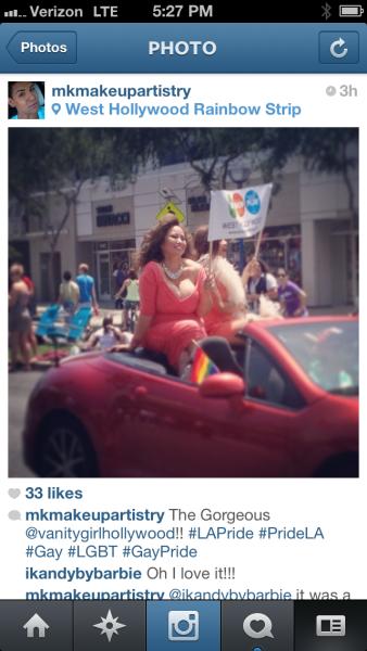 Maxine Tatlonghari in PRIDE Parade 2013
